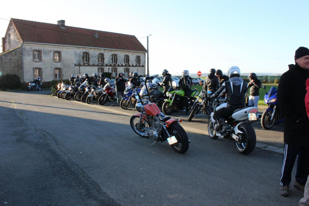 Une partie des motos